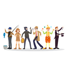 a group of people of different career on a white vector image