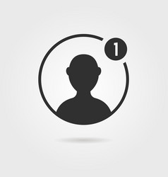 black male user icon with shadow vector image