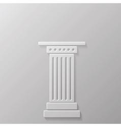 column icoon vector image vector image