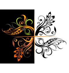 Floral corners vector image vector image