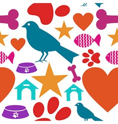 Love for pets icon seamless pattern vector image vector image