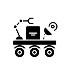 space vehicle icon black vector image
