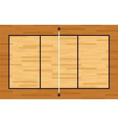 Volleyball hardwood court vector