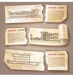 Architecture Plans vector image