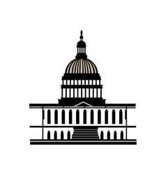 capitol washington america usa vector image