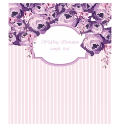 ector Card with Watercolor Rose flowers frame vector image