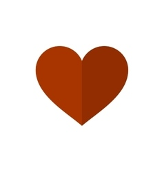 Flat Style Heart Icon on White Background vector image vector image