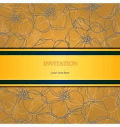 Floral and ornamental background Layered vector image