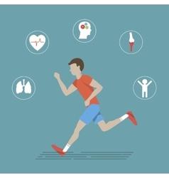 Running health infographics vector
