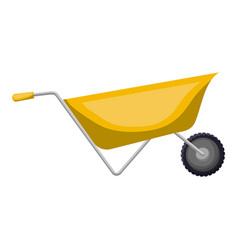 wheelbarrow flat icon colorful silhouette with vector image