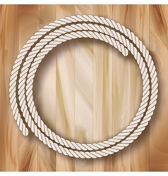 Wood Frame Rope Design vector image vector image