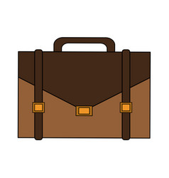 color image cartoon executive briefcase with vector image