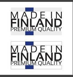 made in finland icon premium quality sticker vector image vector image