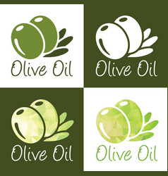 olive oil icons vector image