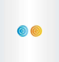orange and blue spiral circle abstract logo vector image vector image