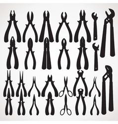 Pliers Silhouette vector image vector image