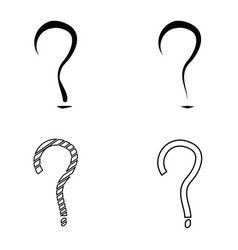question mark sign icon set vector image vector image
