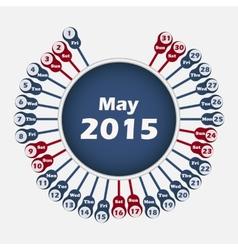 calendar 2015 May template vector image