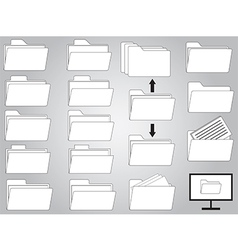Folders and documents vector image vector image