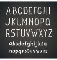 Hand drawn comic retro font white Alphabet vector image vector image