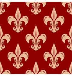 Seamless victorian royal fleur-de-lis pattern vector