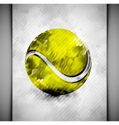 Tennis ball watercolor vector image