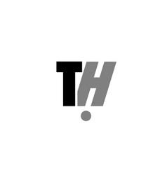 th t h black white grey alphabet letter logo icon vector image vector image