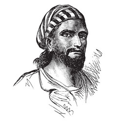 a face a malay vintage engraving vector image