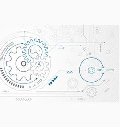 abstract background with gear wheels technology vector image