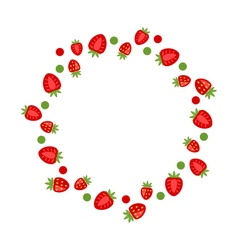Abstract Frame Made of Strawberry vector image