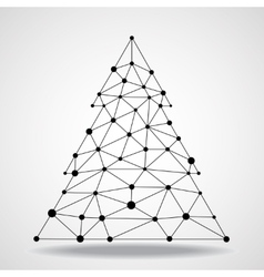 Abstract geometric triangle christmas tree vector image vector image
