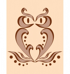 abstract image of an owl vector image
