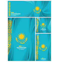 abstract kazakhstan flag background vector image