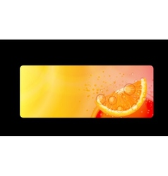 Abstract Orange Background I vector image