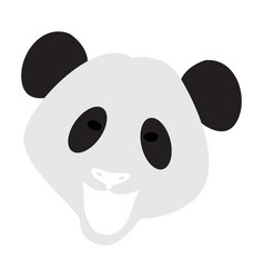 Abstract panda face vector