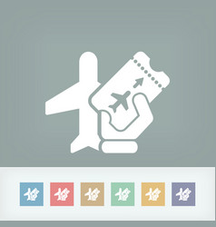 airfare icon vector image