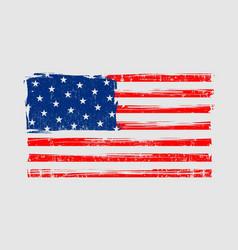 american grunge flag design template vector image