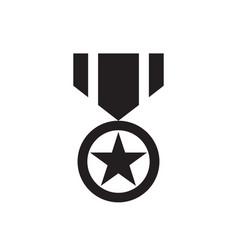 award black icon on white background vector image
