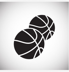 baketball icon on white background for graphic and vector image
