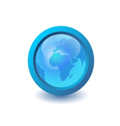 blue earth icon vector image