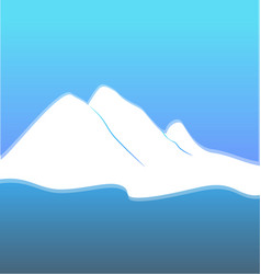blue mountain terrain vector image