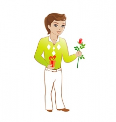 boy with gift vector image