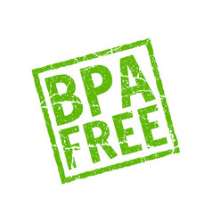 bpa free icon plastic free logo stamp vector image