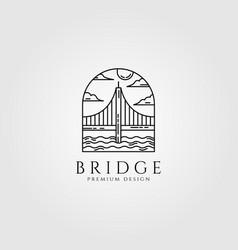 bridge logo minimal line art design vector image