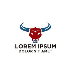 bull logo design vector image