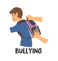 Bullying teen problem teenager in stressful vector