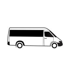 Bus black white icon grapfic vector