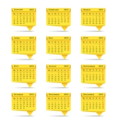 Calendar 2013 Origami Style vector image