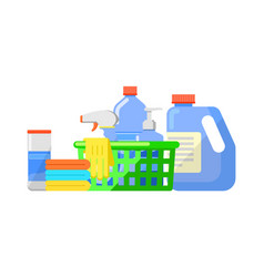 Chemical cleaning products isolated icon vector