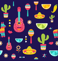 Cinco de mayo seamless pattern for festival in vector